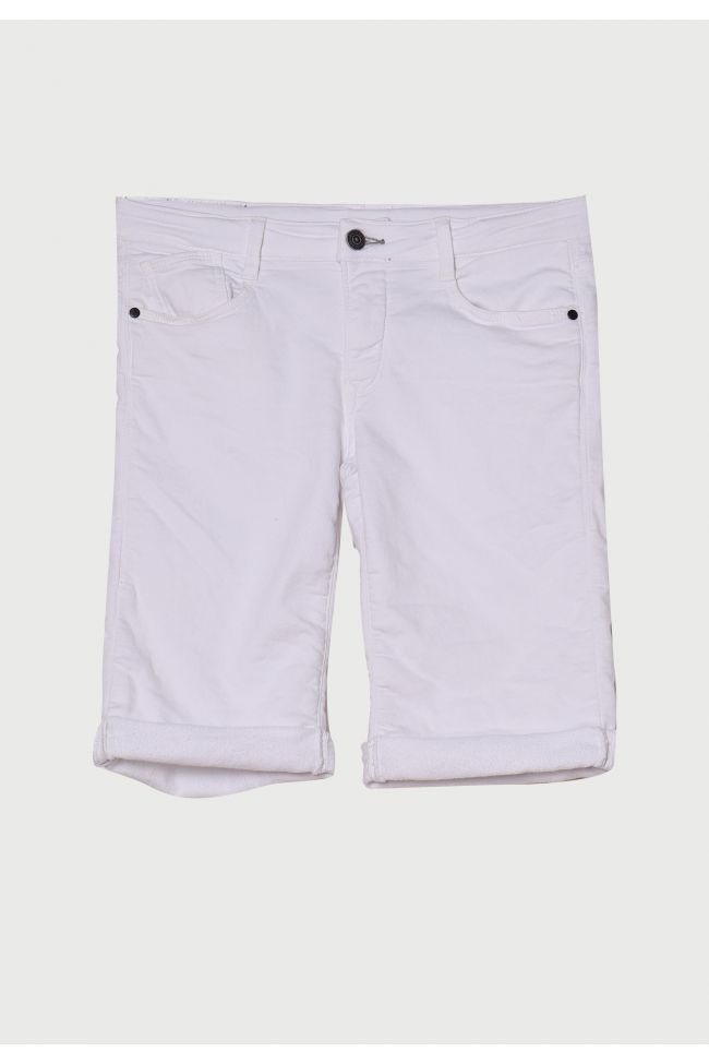 White Jogg Boy Bermuda Shorts