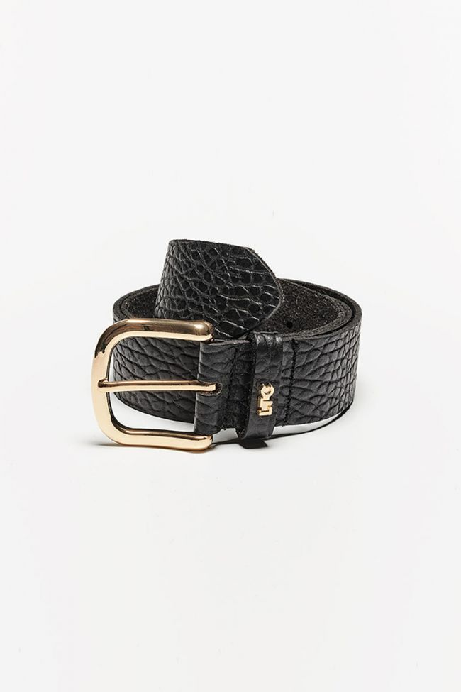 Black Crocobelt leather belt