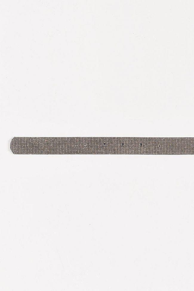 Strasbey belt in silver leather