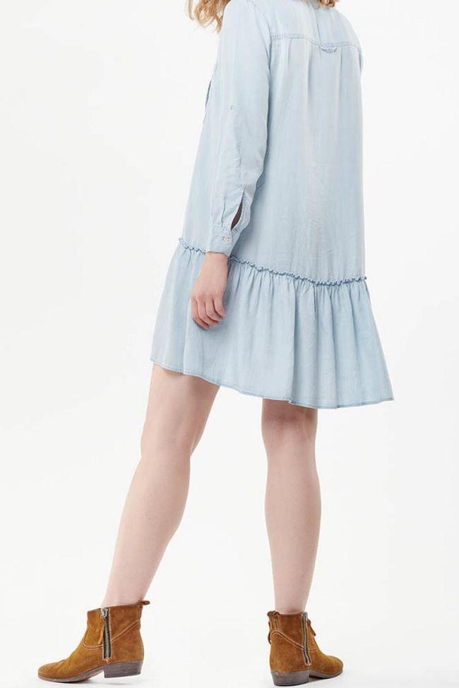 Robe chemise Amari bleu denim