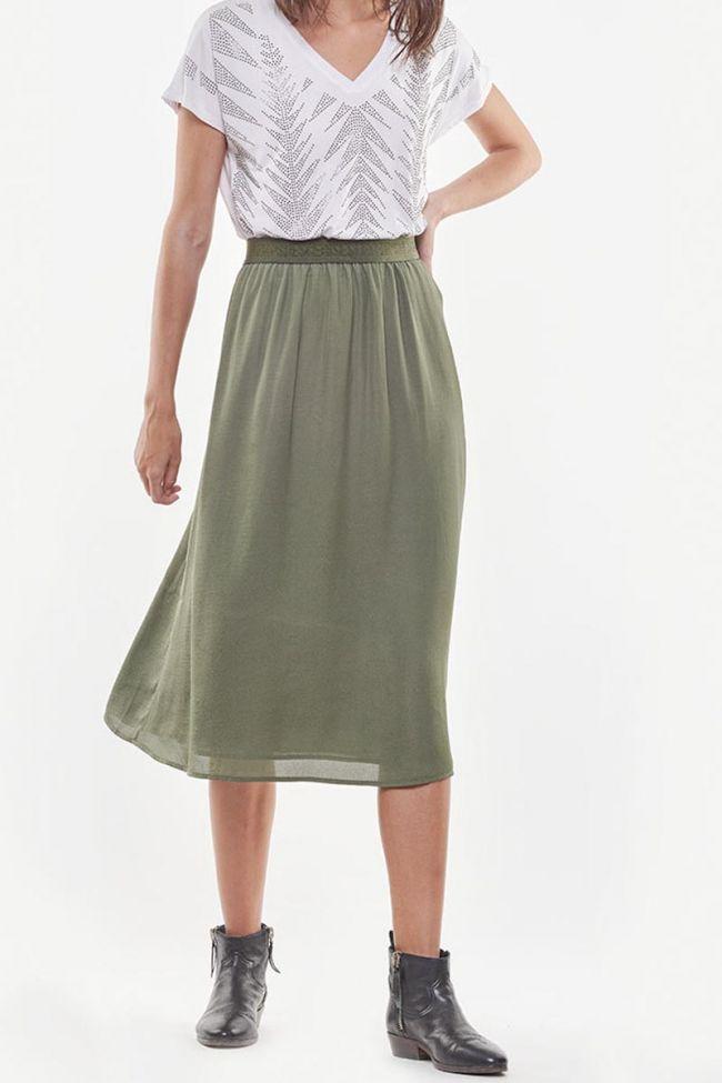 Macky khaki long skirt