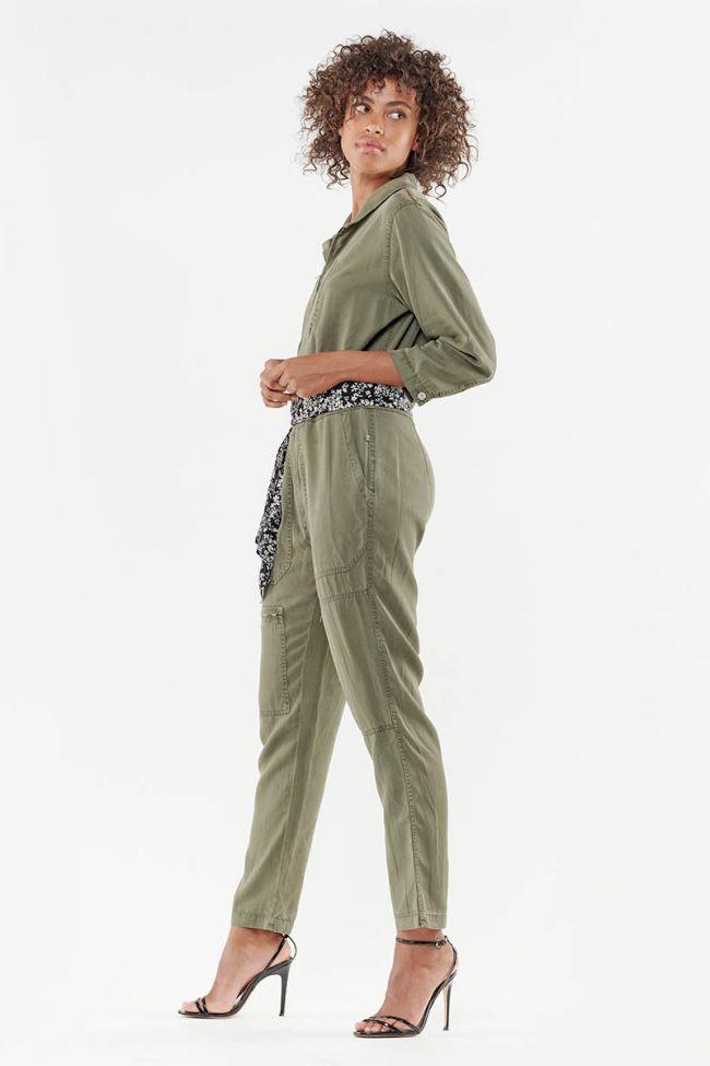 Pebly khaki trouser jumpsuit