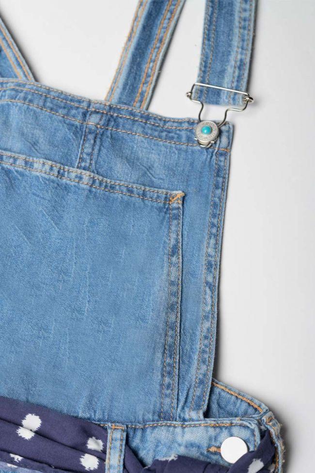 Banks blue jeans short overalls