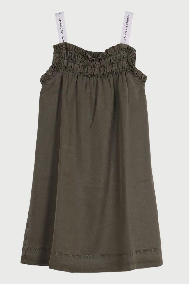 Bijagi khaki dress