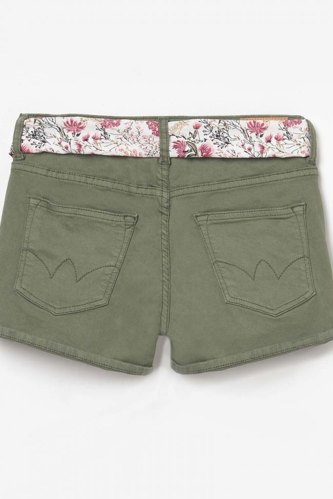 Short Col 2 en jeans kaki