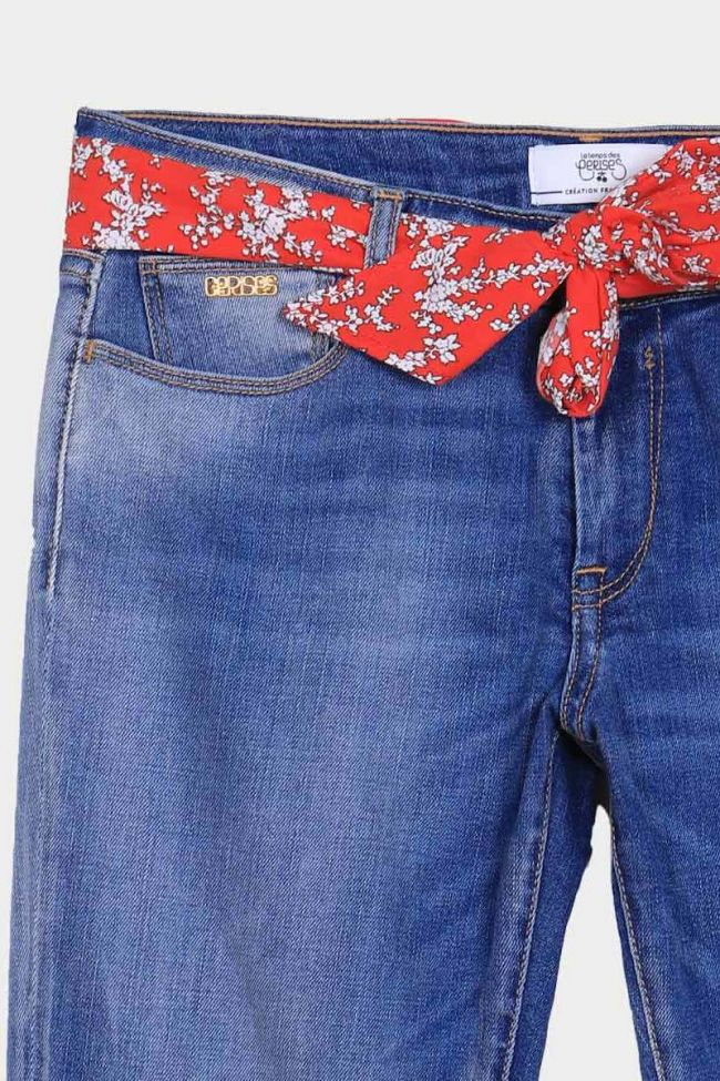 Corsaire en jeans Liev bleu