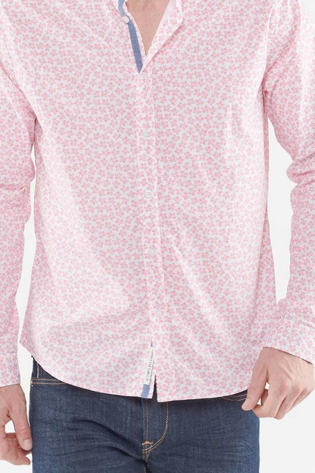 White Dan shirt with flowers pattern