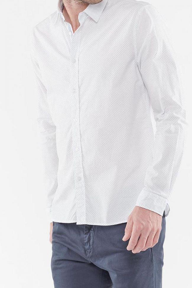 Kurt white shirt with decorative patterns