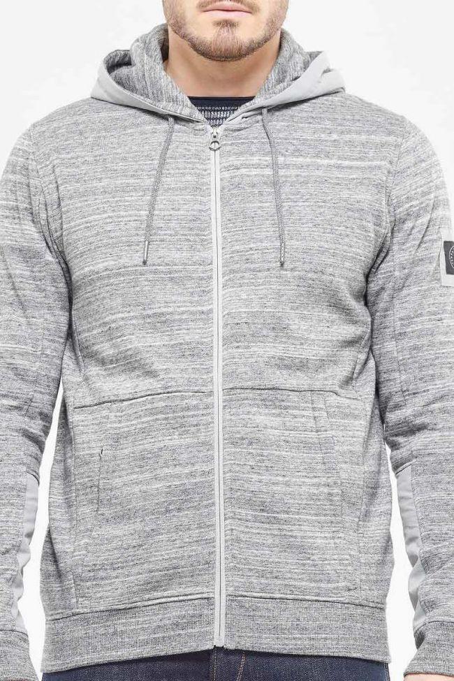 Leton gray zip hoodie