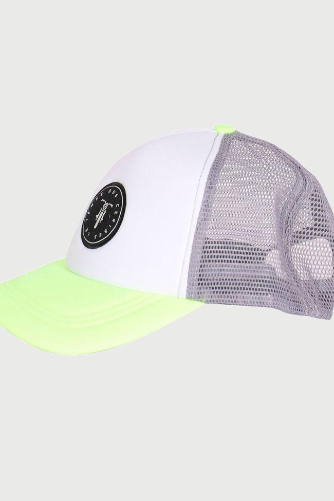 Plum neon green cap