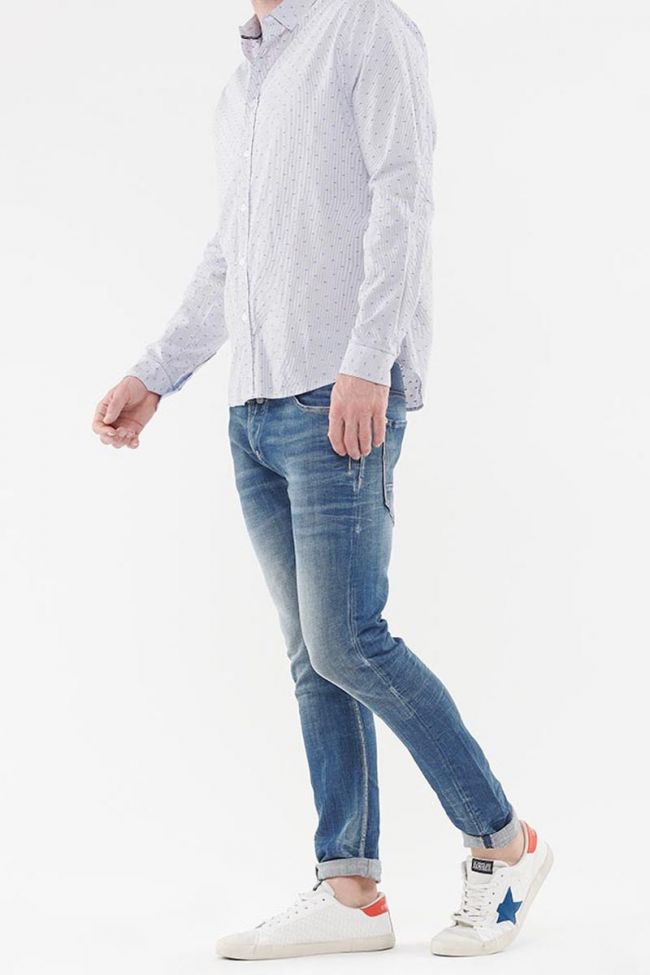 White Risol shirt with decorative patterns