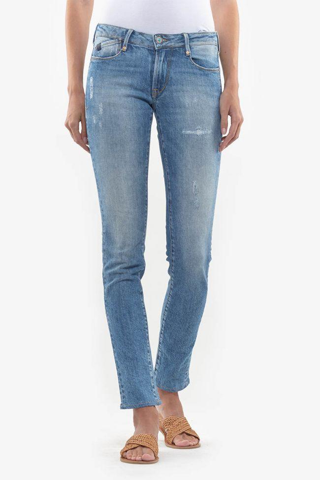 Slim Pegg blue washed 300/16 destroy jeans N°5