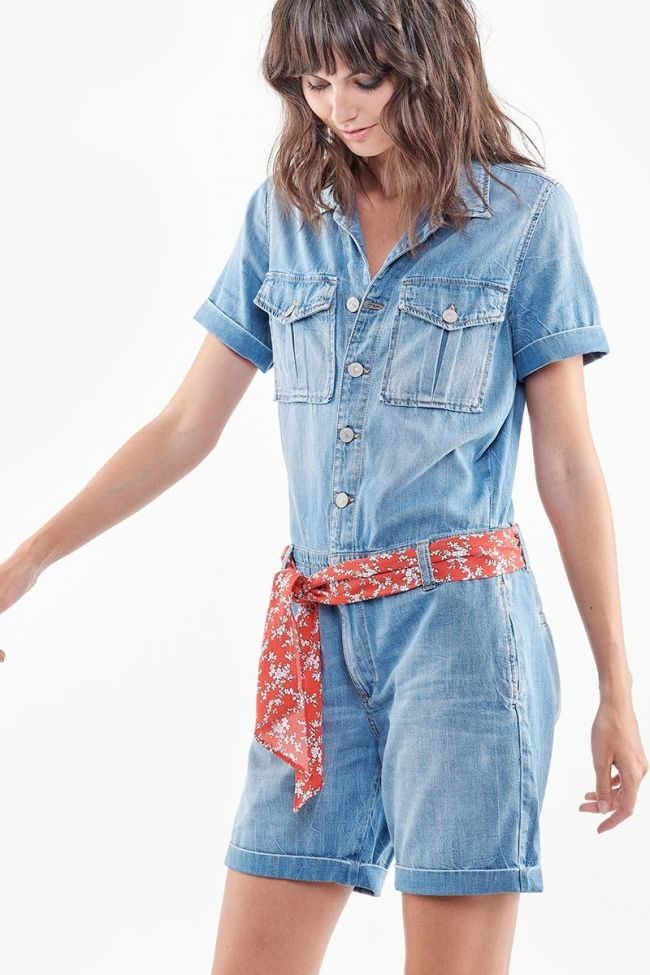 Blue Adams jeans jumpsuit