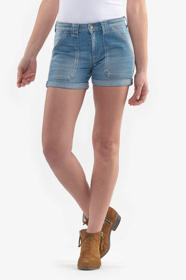 Bloom light blue denim shorts