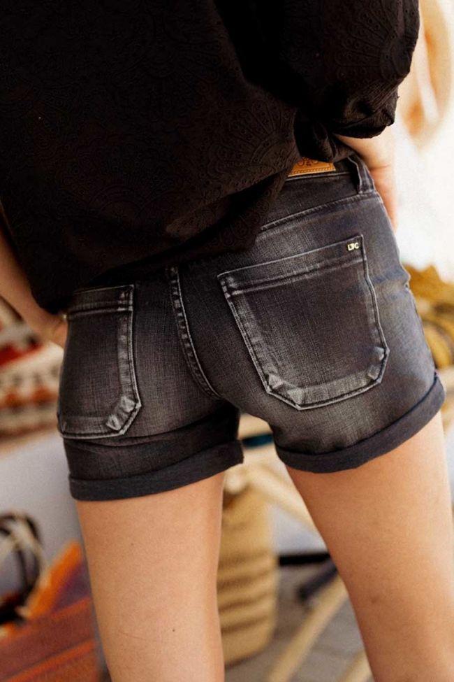 Short en jeans Bloom noir