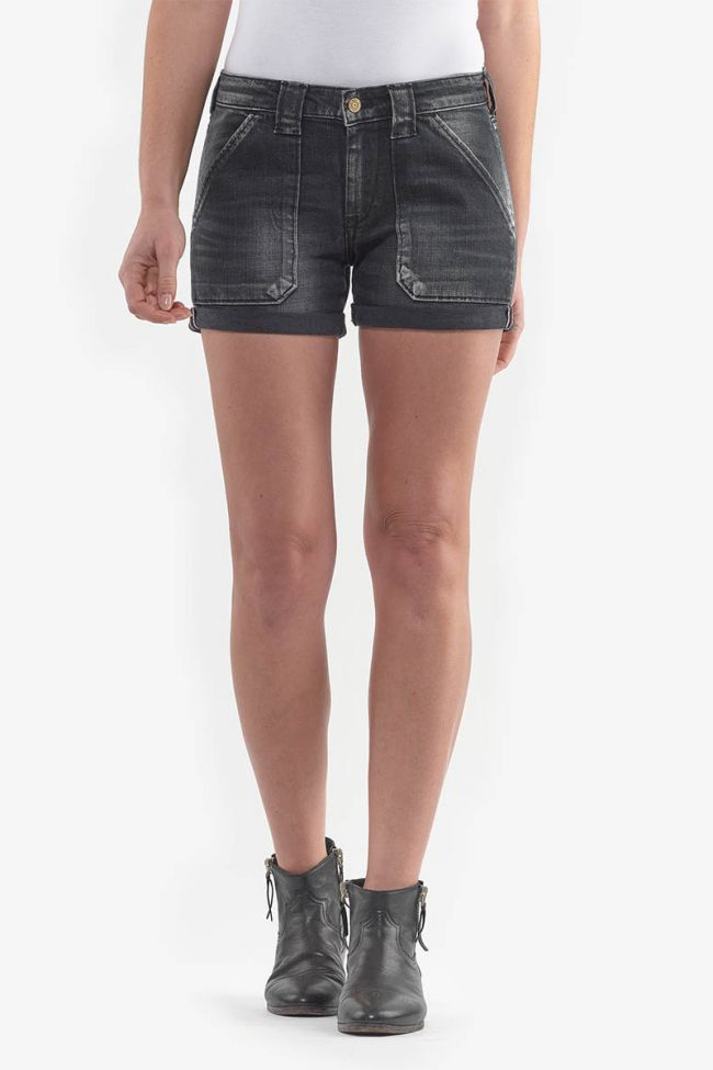 Bloom black denim shorts