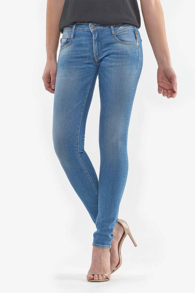 Stonewashed light blue Power Skinny Chili Jeans N°4