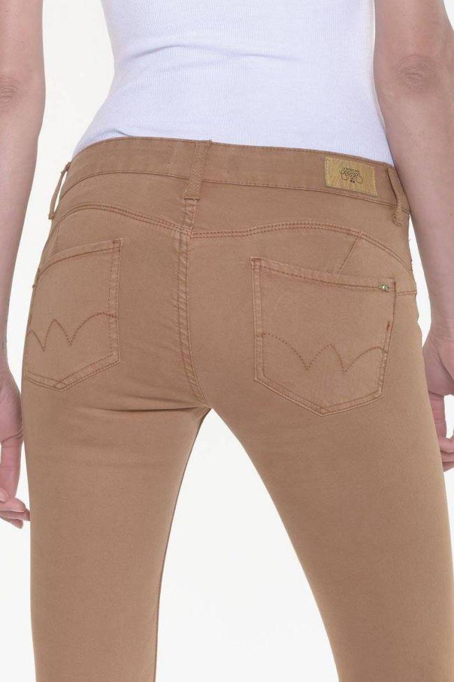Jeans Pulp slim 7/8ème Hill camel