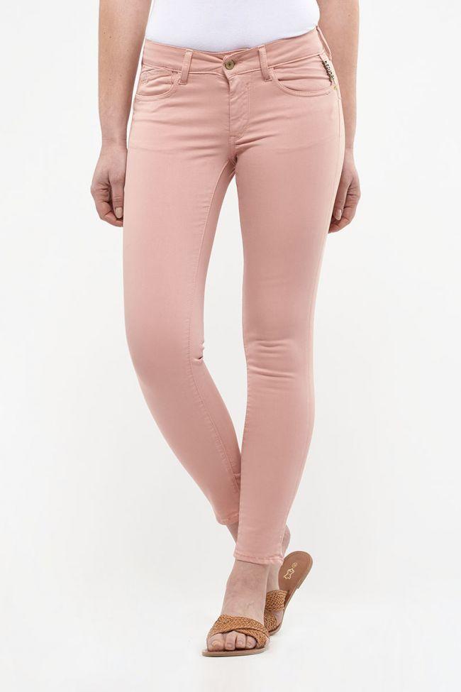 Jeans pulp slim 7/8ème Hill rose