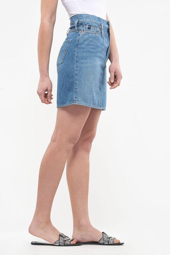 Jupe en jeans Laure bleue
