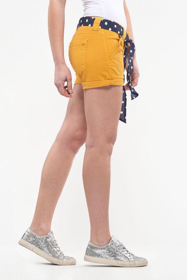 Short en jeans Olsen jaune