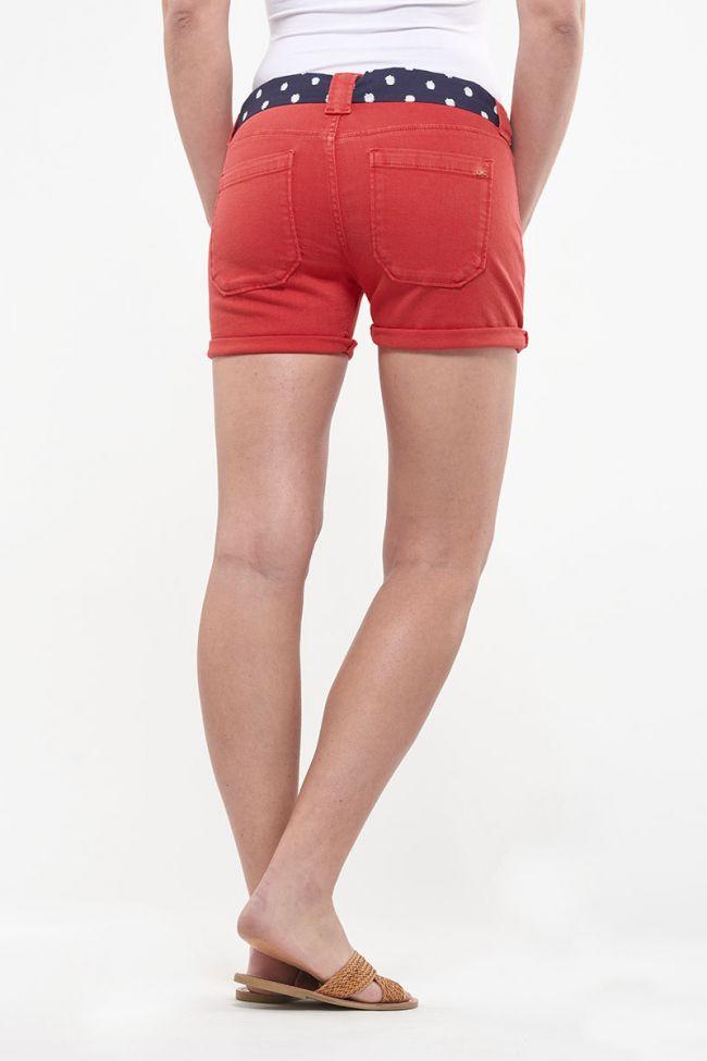 Short en jeans Olsen rouge