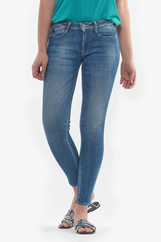 Stonewashed blue Power Skinny Jeans 7/8th N°3