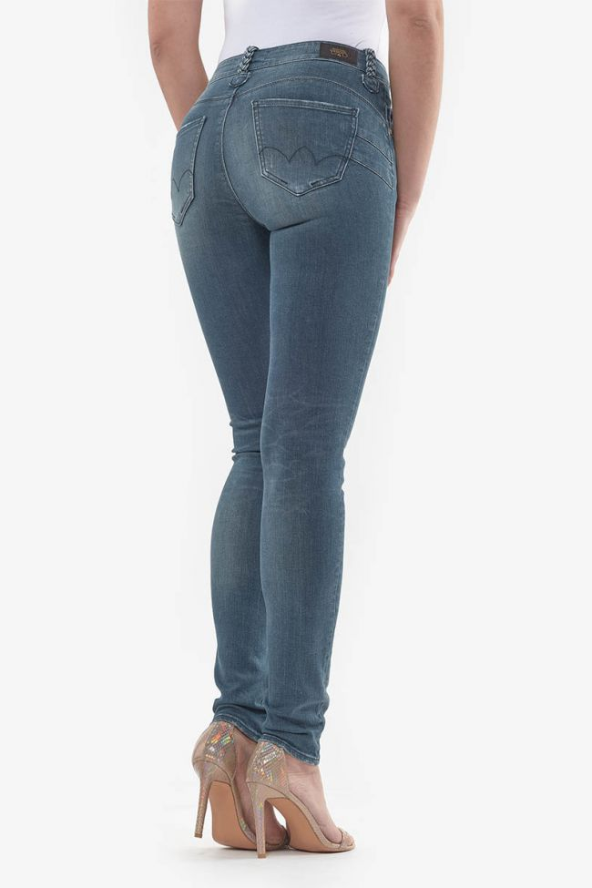 Jeans pulp taille haute slim Zina bleu-noir N°4