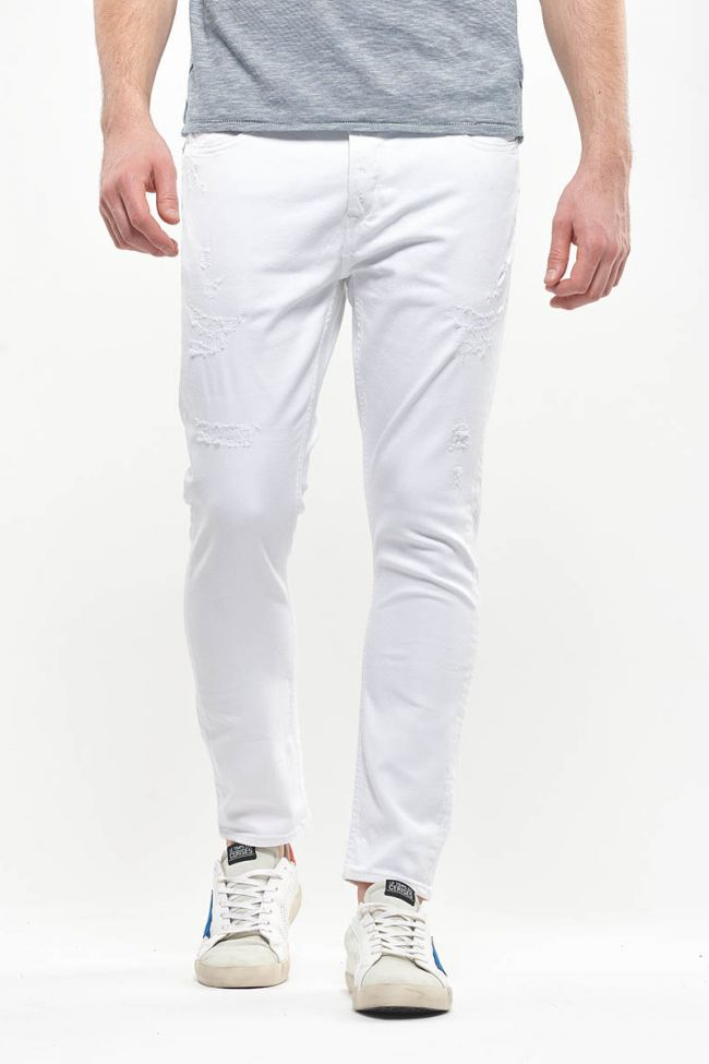 Jeans 900/15 tapered Basic destroy blanc