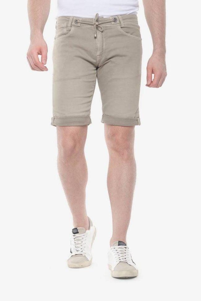 Beige Jogg Bermuda shorts