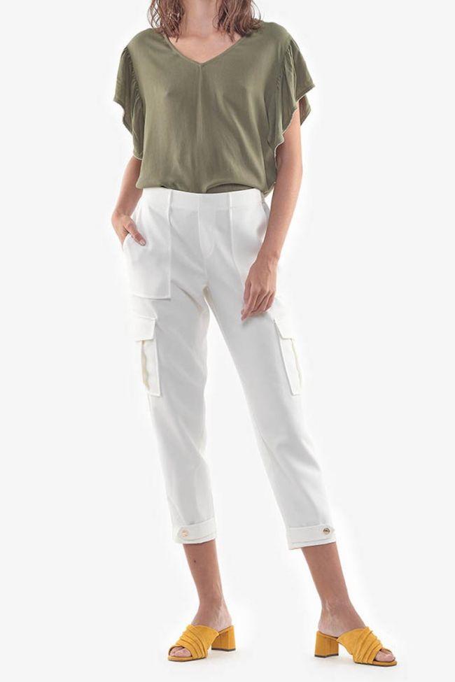 Pantalon Cargo Esmera blanc