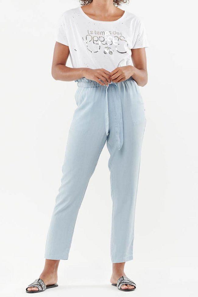 Pantalon coupe carotte Imani bleu denim