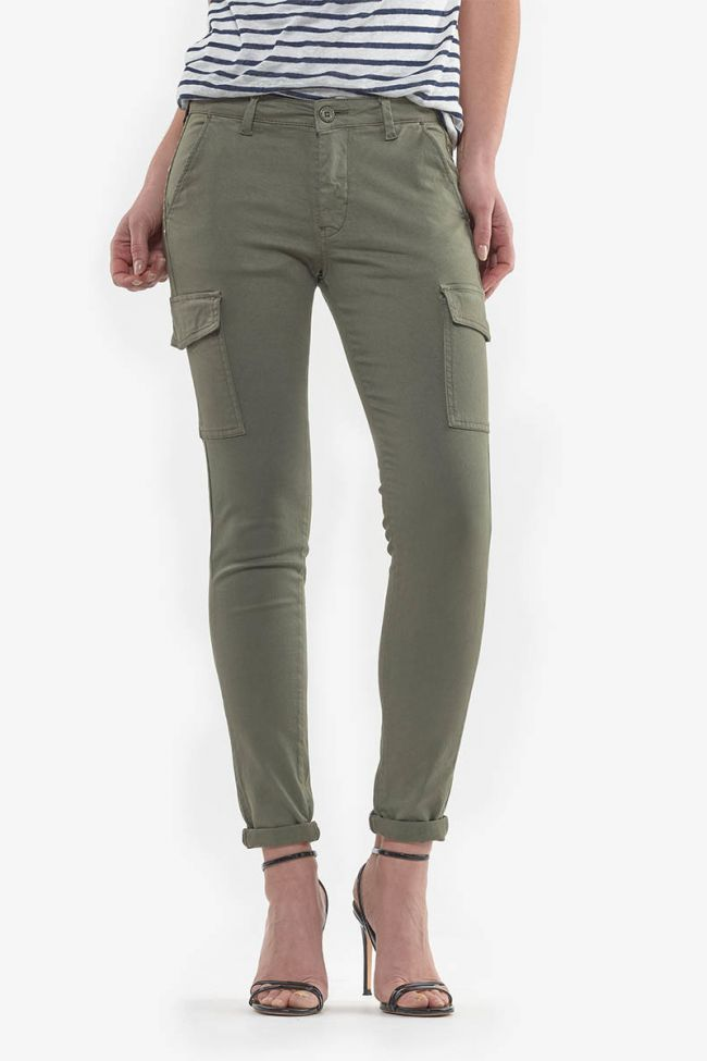 Khaki Linda Star trousers