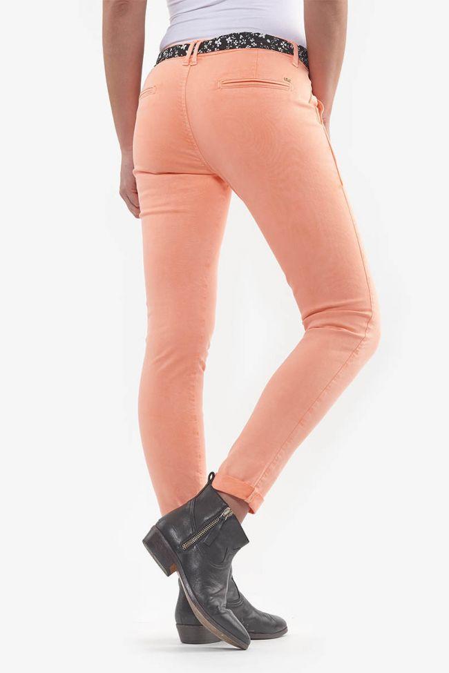 Pantalon Slim Neon corail