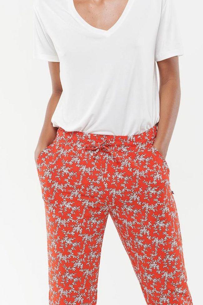 Pantalon Droit Tulipa rouge
