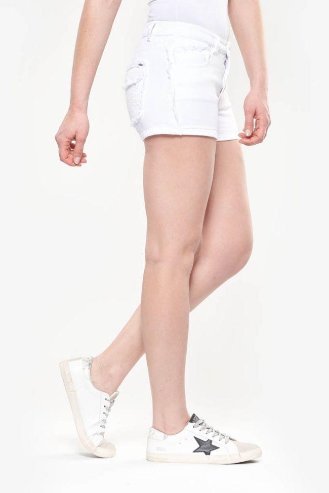 White Waco denim shorts