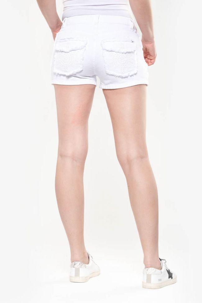 Short en jeans Waco blanc
