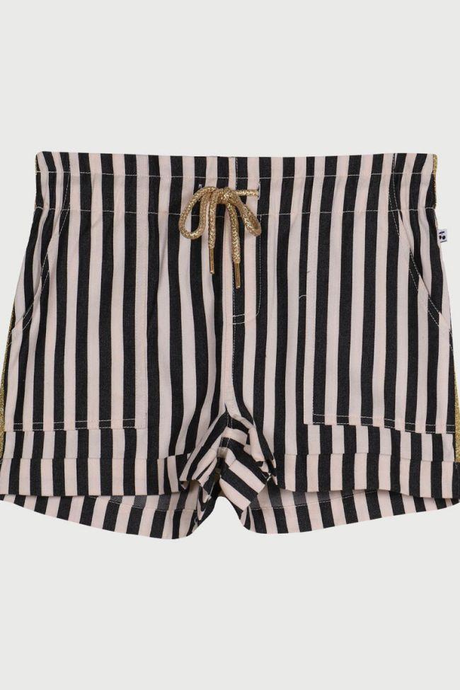 Cabanagi black and white shorts