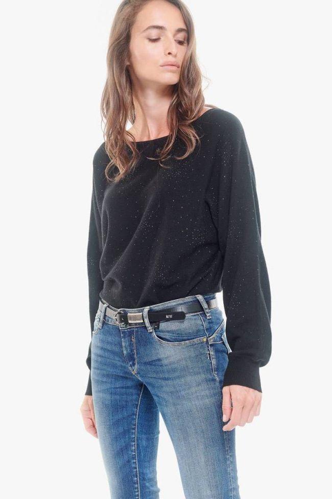 Black leather Célia belt