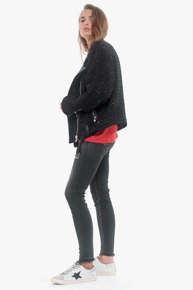 Black Alisson biker jacket