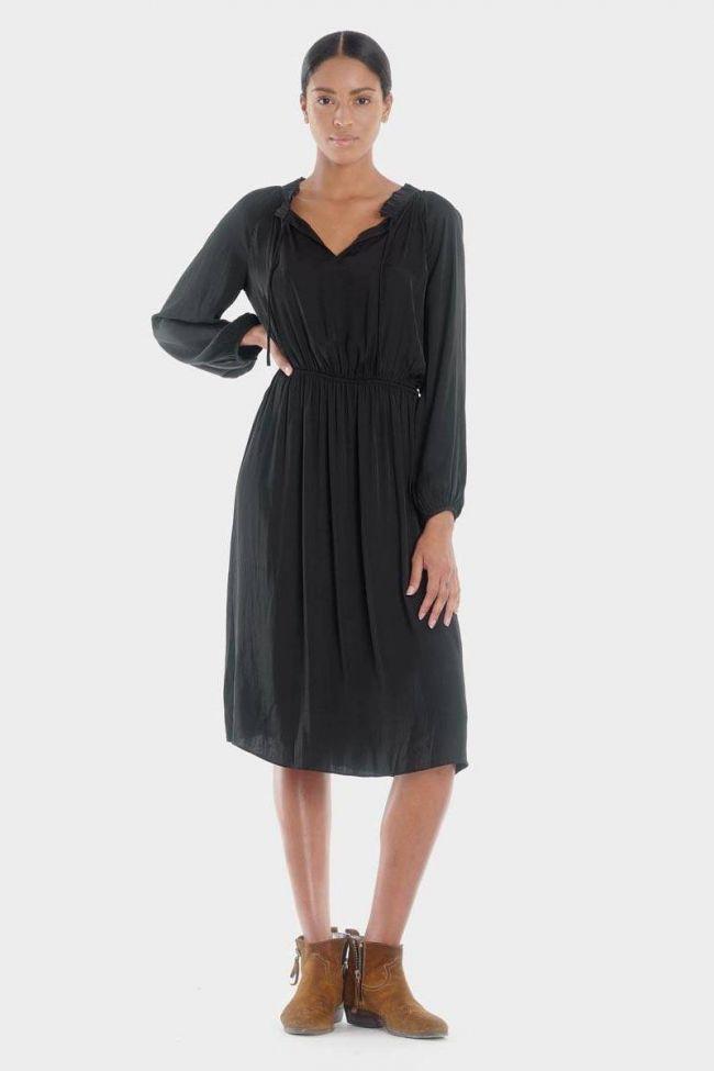 Mid-length black Amia dress
