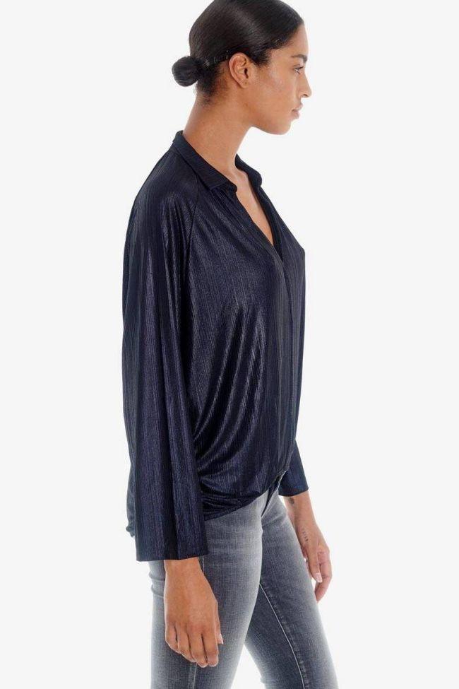 Navy Angel blouse