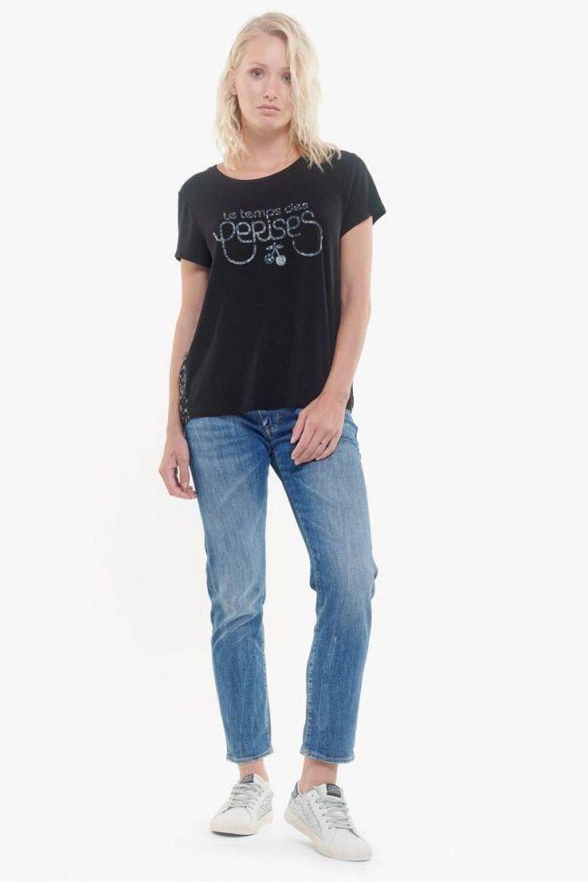 Dark navy Briana logo t-shirt