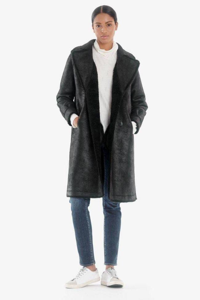 Reversible Wool Mixed Igor Black Coat