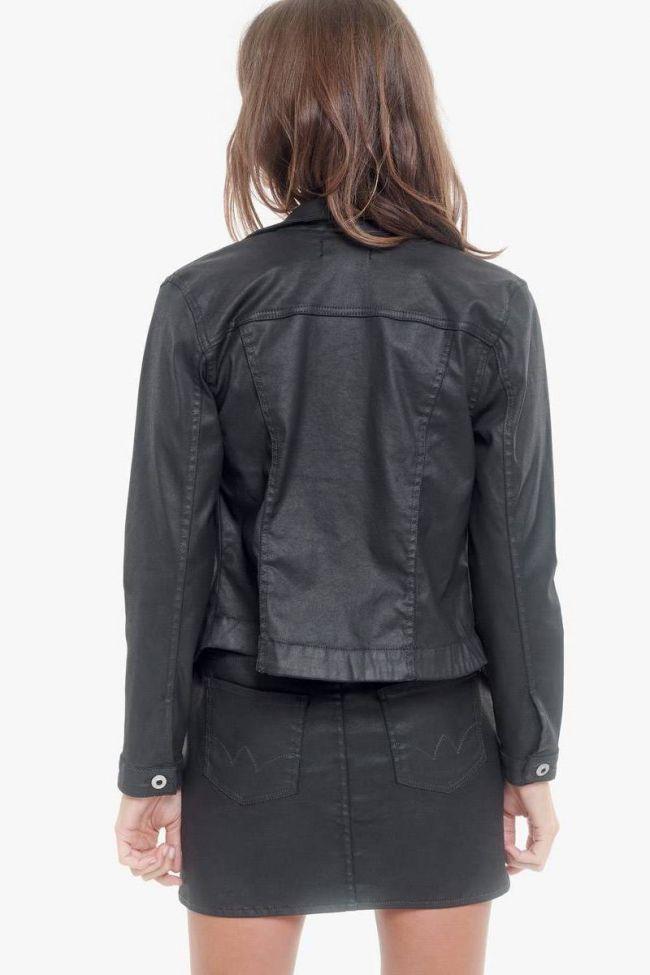 Veste en jeans enduit Louve noire