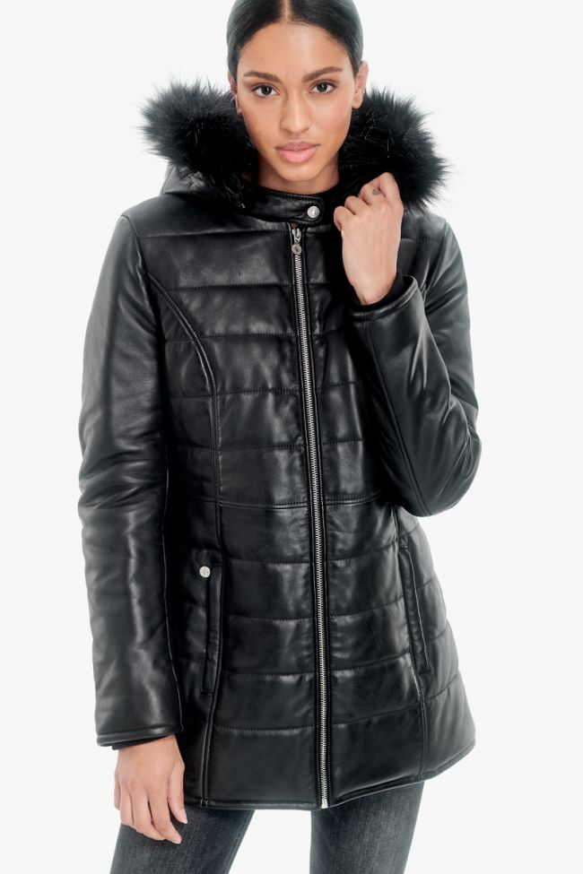 Black Marcy leather padded jacket