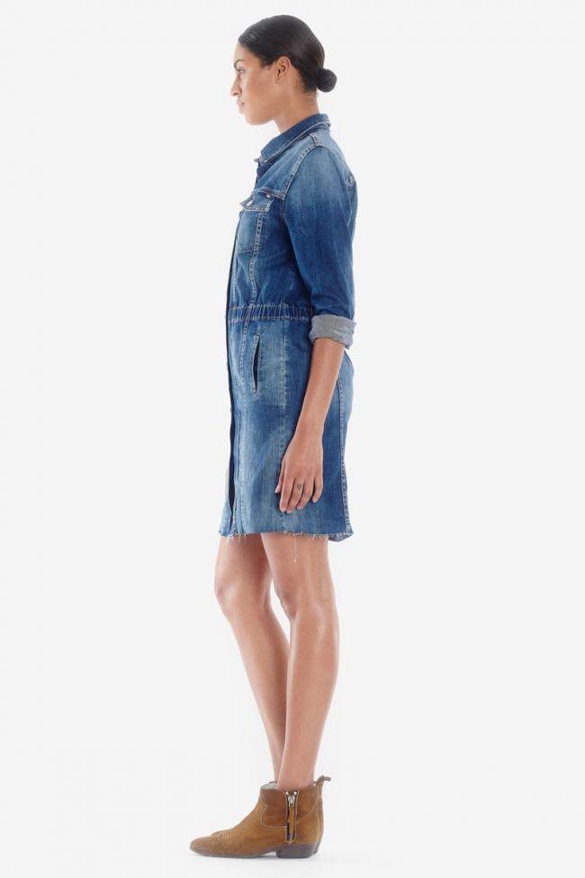 Robe en jeans Meg bleue