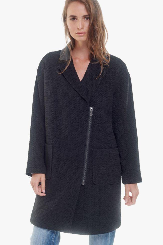 Black asymetrical Michou coat