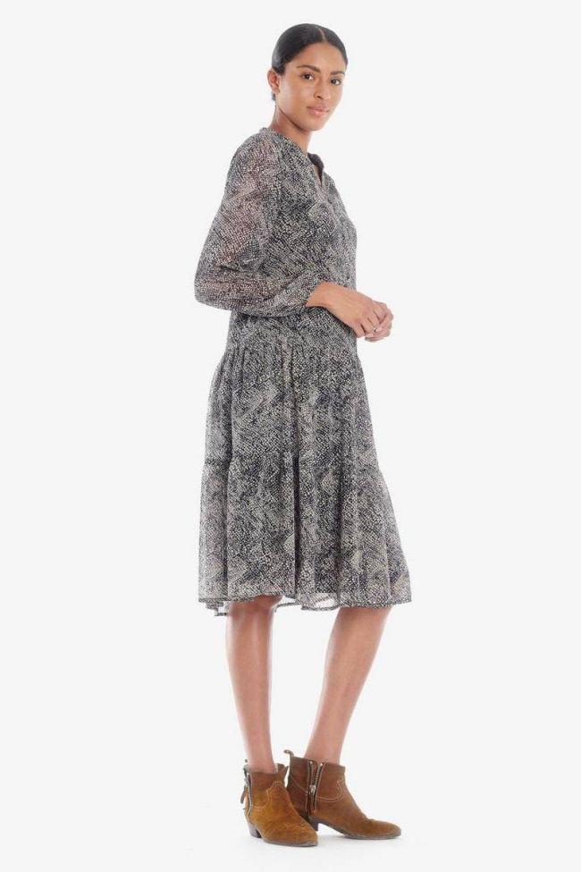 Mid-length snake scale print Rizia dress