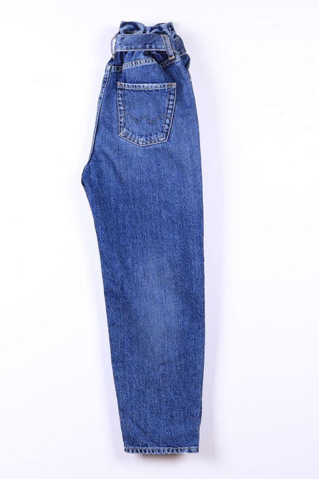 Blue light high waist mom jeans N°4
